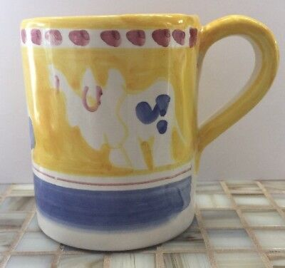 Vietri Pottery-4in. Mug Elephant(Chicken campagna)Made/Painted byhand-Italy NEW