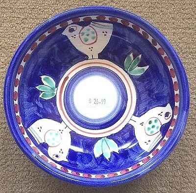 Vietri Pottery,Blue Chicken campagna 6 Inch Bowl.Painted by hand in Italy NEW!