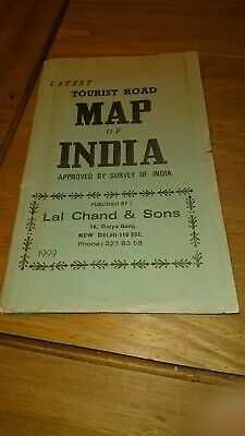 Original Map of India: tourist road survey of India lal chand & sons 1999