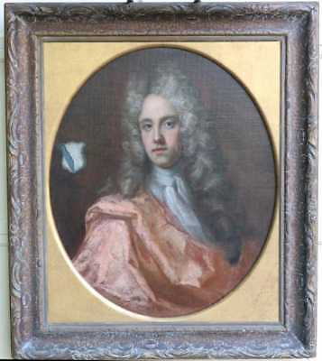 MUSEUM ACQUIRED VERY RARE British 17TH, 18TH C Portrait Painting of a Nobleman