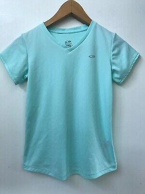 dbee9ff8 c9 Champion Girls Mint Green Active Tee V-Neck Stretch Top Size L (10