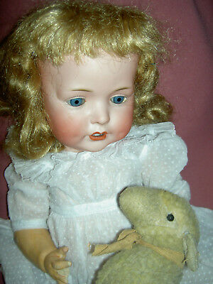 """Gorgeous antique German, Bahr & Proschild, 19"""" long, 624 character baby doll"""