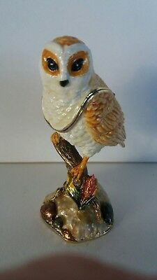 Juliana Treasured Trinkets - Barn Owl Trinket Box