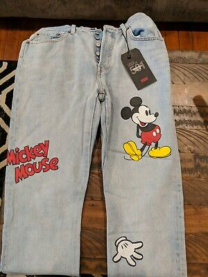 a605a570 Limited Edition Women's Levi's X Disney Mickey Mouse 501 Original Cropped  Jeans