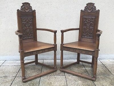 Antique French Caquetoire Chairs C1880