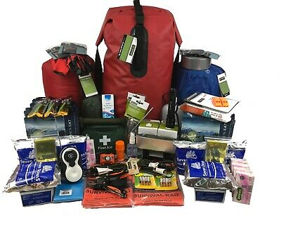 Emergency Grab Bag 2 Person Evac Bug Out Bag, 72 Hour Waterproof Survival Kit.