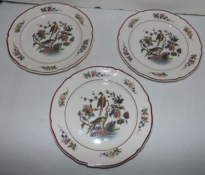 "(Set of 3) Villeroy & Boch Red ""Phonix"" PHOENIX 7 1/2"" SALAD PLATES (Germany)"