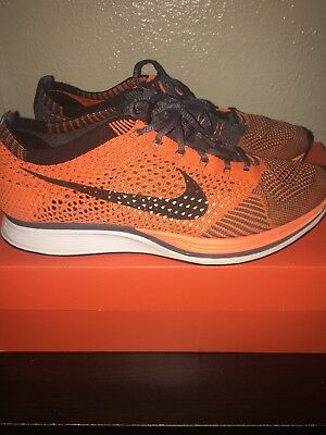 1c0624ad5d49 DS NEW NIKE Flyknit Racer One 1 Brave Blue Squadron Volt US Mens Sz ...
