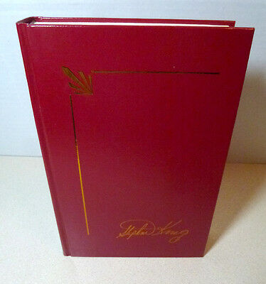 Stephen King Tommyknockers Hard Cover Red Leather Signature Library Collection