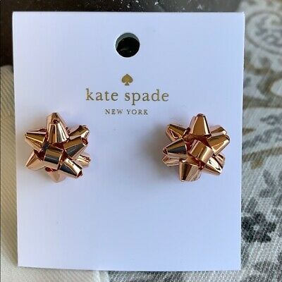 6ac2750fe5cb8 KATE SPADE BOURGEOIS Bow Earrings New With Dust Bag - $18.99 | PicClick