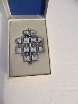 Marianne Berg for Uni David Andersen Silver Norway Norwegian Brooch Pin orig box