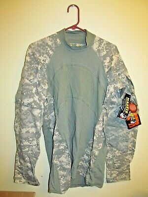 9def6f5ed02f MASSIF FLAME RESISTANT FR Army Combat Shirt ACU Large US Army Strong ...