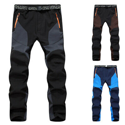 Men Warm Windproof Pants Outdoor Hiking Camping Skiing Snowboard Snow Trousers