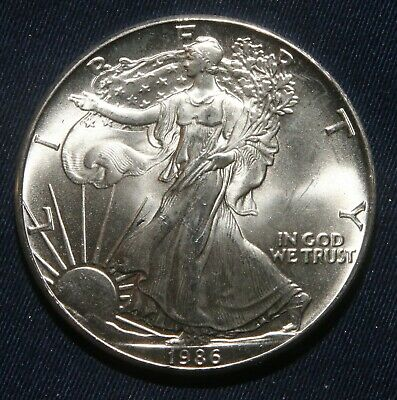 "1986 Silver American Eagle 1 Oz Bullion Coin ""impaired""  Lot 021024A"