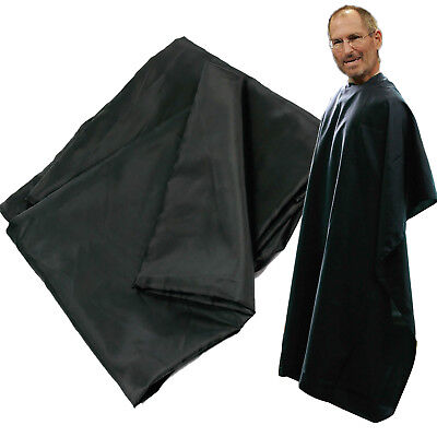 1pcs Hair Cut Hairdressing Gown Barbers Cape Black For Adult Salon US