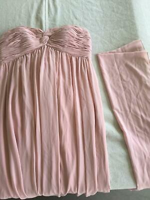 Beautiful Jadore Blush Pink Strapless Formal Full Length Gown Size 20