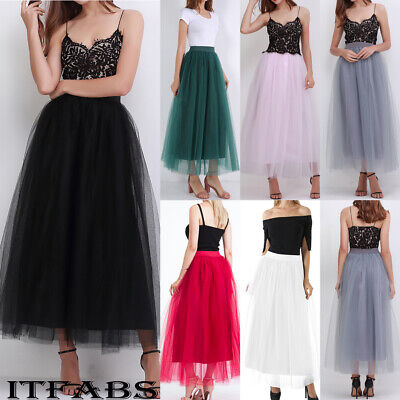 52150bfef6 New Women Girls 4 layer Tutu Skirt Tulle Skirts Adult Tutu Prom Ball A-line