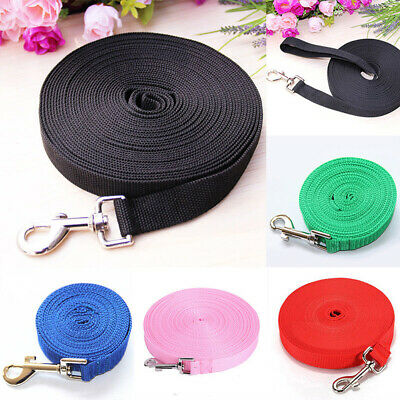 Pet Dog Leash Long Obedience Rope Foot Feet Training Walk Lead Clip Clasp Cable