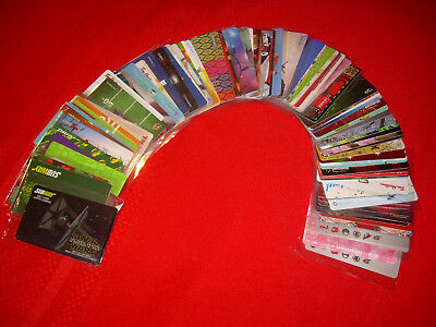 100 diff UNSCRATCHED Empty Gift Card New Old 56 WALMART-36 TIM HORTONS-8 SUBWAY