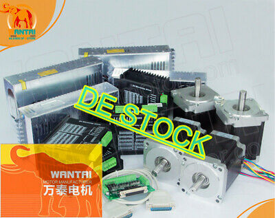 DE Delivery! Wantai 4Axis Stepper Motor Nema23 57BYGH627 3A 270oz-in 4-Wire Kit