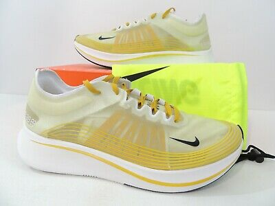 b46ab6693c4d8 Nike Mens Zoom Fly SP Dark Citron Black Running Shoes AJ9282-300 Size 11.5