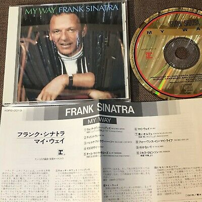 FRANK SINATRA My Way JAPAN 24k GOLD CD 43P2-0013 w/INSERT+PS 1988 issue Free S&H