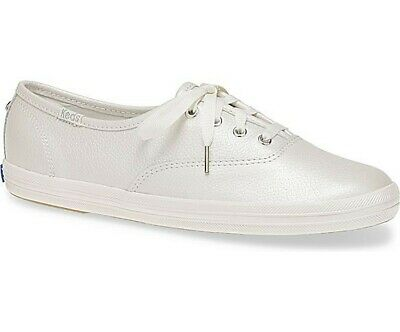 ab9189c409828 Keds Kate Spade New York Women s Champion Pearl Leather Cream Sneakers Sz 9   95