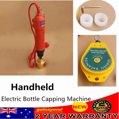 NEW Handheld Electric Bottle Capping Machine Screw Capper Sealing Machine RED AU