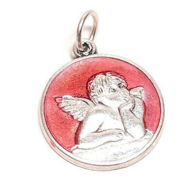 🍭 Guardian Angel Catholic Medal / Charm ❀ Pendant Blessed by Pope Francis