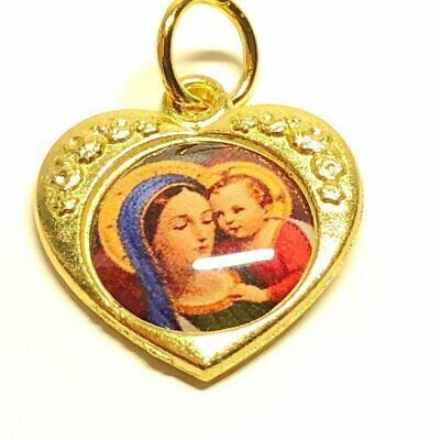Madonna Of The Street W/ Jesus - Our Lady Virgin Catholic Medal Pendant Charm