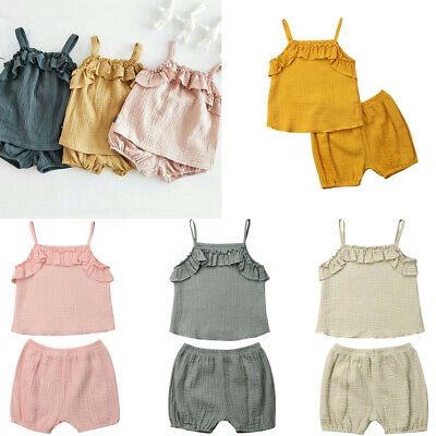 4ee58d3f Newborn Baby Girl Sleeveless Casual Camisole Top+Fashion Short Summer  Outfits