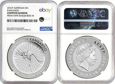 2016 1oz Silver Kangaroo -- NGC Certified from Perth Mint Sealed Box #4
