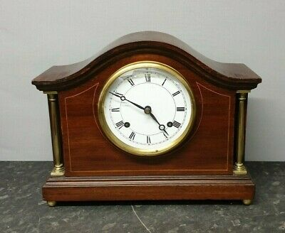 Vintage Edwardian 8 Day Table Clock with Strike