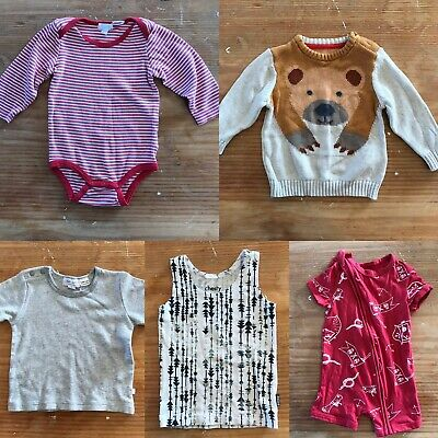 Baby Clothes Bundle 5 x Items Size 6-12 Months Bonds Purebaby Earth Nymph M&S