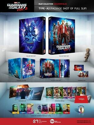 Guardians of The Galaxy Vol.2 (3D + 2D) Blu-ray Exclusive Steelbook Full Slip A2