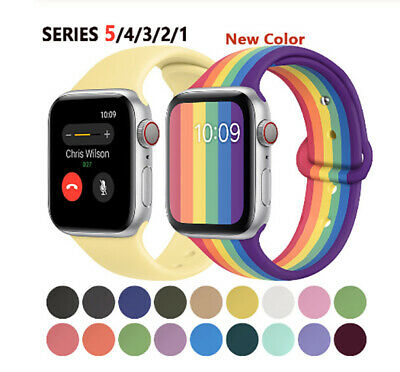 Replacement Wrist Silicone Sport Band Strap For Apple Watch Series 5 4 3 2 1 AU