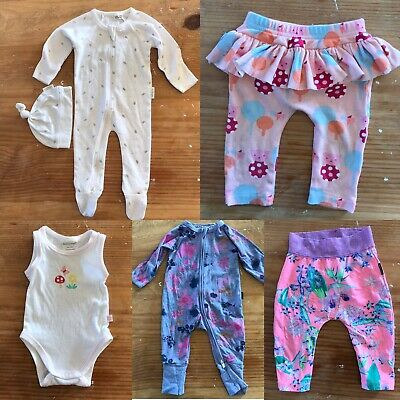 Baby Clothes Bundle 5 x Items Size 0-3 Months 000 Bonds Purebaby Sookibaby