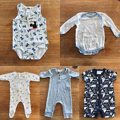 Baby Clothes Bundle 5 x Items Size Newborn- 3 Months 000 Purebaby Marquise Bonds