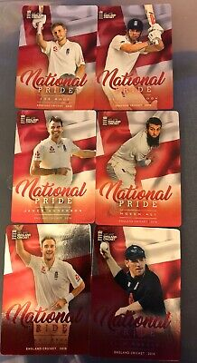 ENGLAND CRICKET 2018 Trading Cards NATIONAL PRIDE CHASE SET (6) Complete