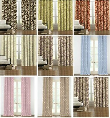 Thermal Blackout Curtains Pair Ready Made Pencil Pleat Top Free Hooks All Sizes
