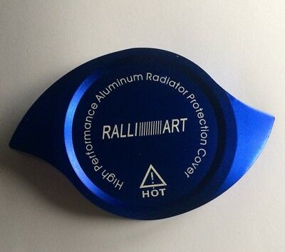Ralliart Mitsubishi Radiator Cap Cover Blue Heavy Duty