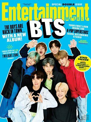 US Entertainment Weekly Magazine April 2019: K-POP BTS PHOTO COVER AND FEATURE