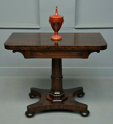 Elegant William IV Rosewood Side / Games Card Table