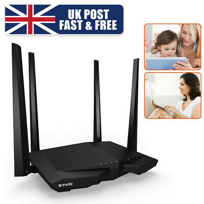 1200Mbps Wireless WiFi Repeater Booster Router Dual Band 2.4/5GHz 4 Antenn Tenda