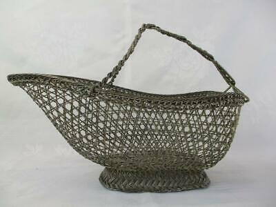 GALLEON VINTAGE Silver Plated Wire Basket for wine