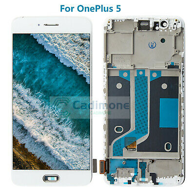LCD Schermo Per OnePlus 5 A5000 Display Touch Screen Assembly Frame Bianco han2