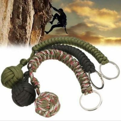 Monkey Fist Paracord Keychain Chain Keyring Military Useful Ball Survival IT
