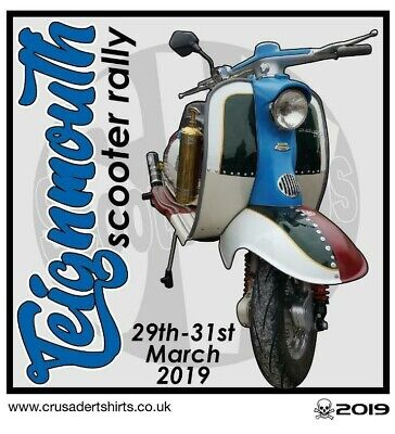 2019 OFFICIAL TEIGNMOUTH SCOOTER RALLY PATCH MOD SKINHEADS not PADDY SMITH VESPA