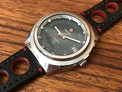 CERTINA Q Quartz Swiss - 91 01 003 - Retro Vintage Circa 1970s Rally Dynamic