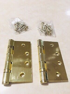 "EMTEK Solid Brass Hinges 4""x4"" SQ. Ball Bearing/1 Pair/Brand new without box"